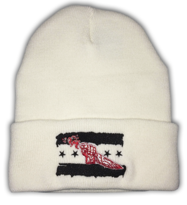 Demon Punk™ Embroidered Cuffed Knit Beanie