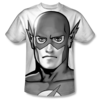 The Flash™ Classic Black & White All-Over T-Shirt