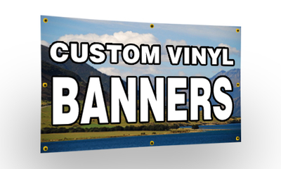 Custom Full Color 13 Oz Vinyl Banner Free Ground Shipping