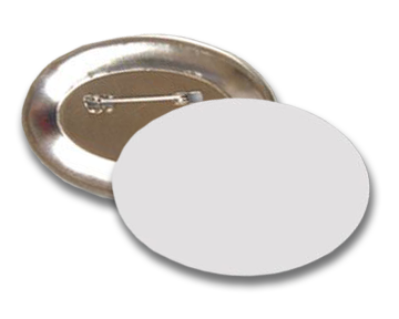 "Custom Full Color 1.75"" x 2.75"" Oval Pin-Back Buttons"
