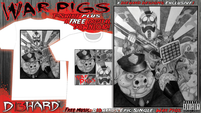 D13HARD™: War Pigs T-Shirt + FREE MUSIC DOWNLOAD
