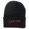 SAMHAIN Embroidered Cuffed Knit Beanie