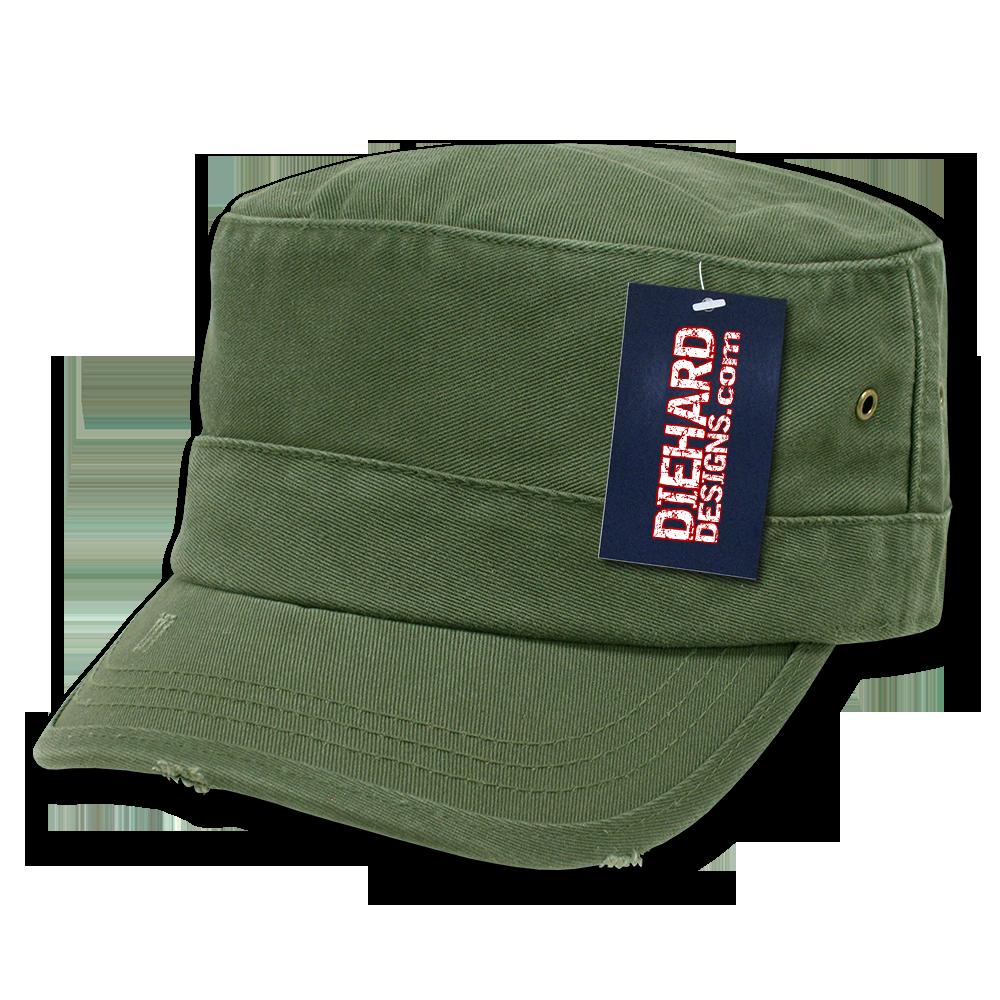 Vintage Flat Top Military Cap eca4a9ec17c