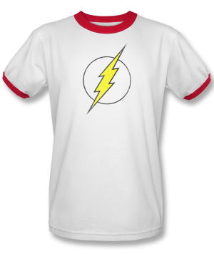 Flash™ Distressed Logo Ringer T-Shirt