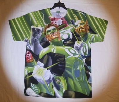 Green Lantern™ HIGH BEAMS All-Over T-Shirt - Adult Large (LAST 1 LEFT!)