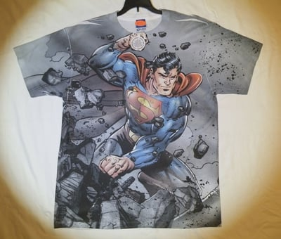 Superman™ vs Doomsday™ All-Over T-Shirt - Adult Large (LAST 1 LEFT!)