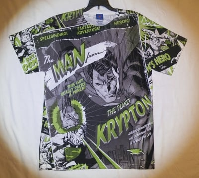 Superman™ The Man from Planet Krypton All-Over T-Shirt - Adult Medium - (LAST ONE LEFT!)