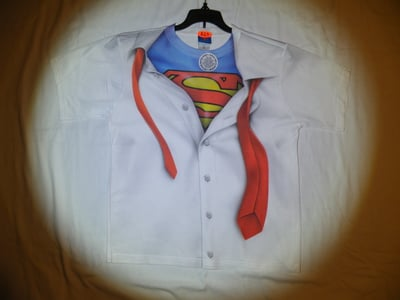 "Superman™ ""I AM SUPERMAN!"" All-Over T-Shirt - Youth Large (LAST 1 LEFT!)"