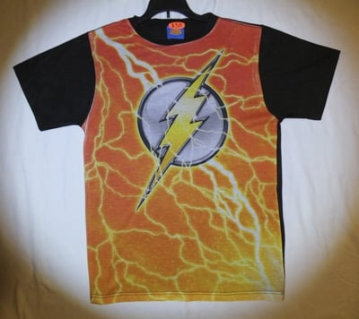 The Flash™ Lightning Logo All-Over T-Shirt -Adult Small (LAST 1 LEFT!)