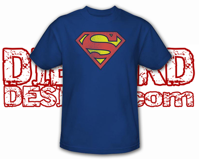 Superman™ RETRO DISTRESSED SHIELD BLUE Apparel