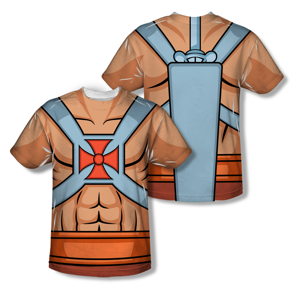 masters of the universe he man costume all over t shirt. Black Bedroom Furniture Sets. Home Design Ideas