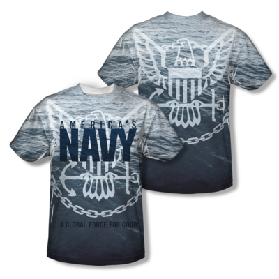 "U.S. NAVY ""AMERICAN FORCE FOR GOOD"" All-Over T-Shirt"
