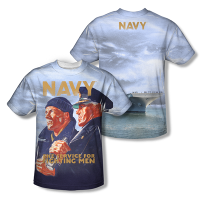 "U.S. NAVY ""AMERICAN SAILORS"" All-Over T-Shirt"
