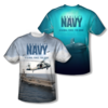 "U.S. NAVY ""OVER & UNDER"" All-Over T-Shirt"
