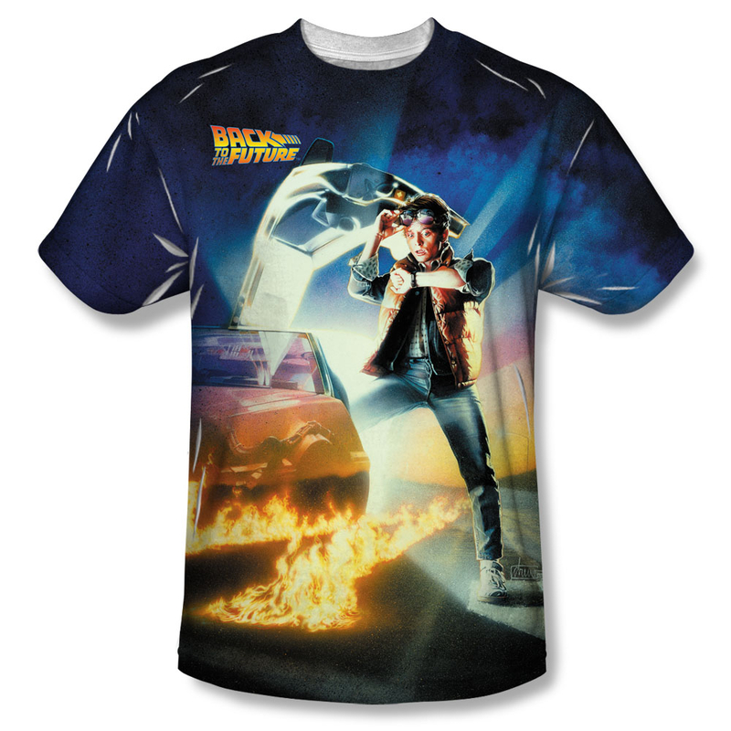 Youth Poster T-Shirt in Black Back to the Future