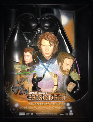 STAR WARS™ REVENGE OF THE SITH™ Limited Edition #609 of 5,000 Premium Sculpted Collectible Movie Poster (Best Buy Exclusive, Pre-Owned, No Box) w/ FREE GROUND SHIPPING!*