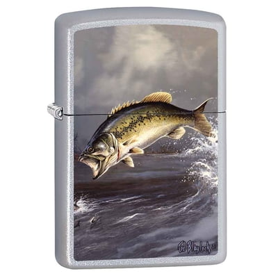 Bass by Blaylock - Satin Chrome Finish - Zippo Lighter
