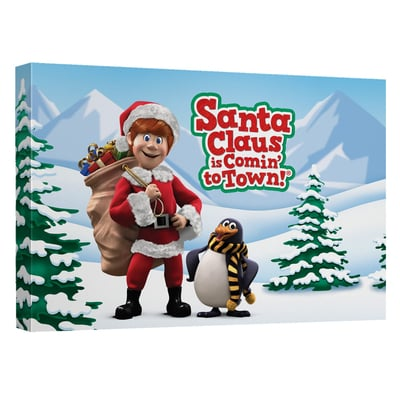 Santa Claus is Comin' to Town™ KRIS & TOPPER Art Canvas