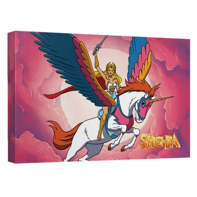 She-Ra™ w/ Swift Wind™ IN THE CLOUDS Art Canvas
