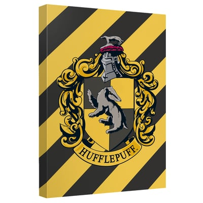 Harry Potter™ Hufflepuff Crest Art Canvas