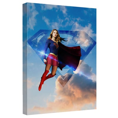 Supergirl™ UP IN THE SKY Art Canvas