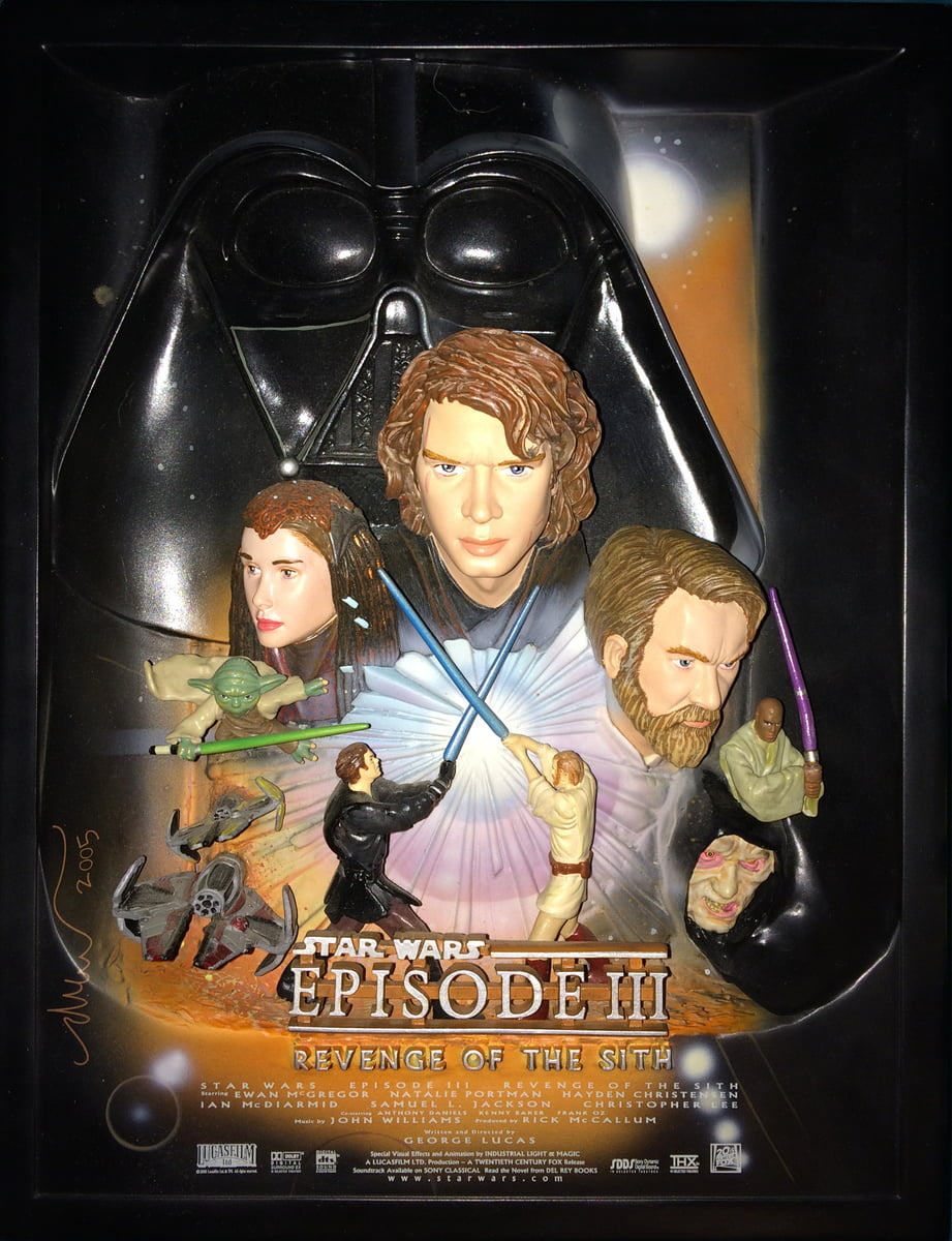 Star Wars Revenge Of The Sith Limited Edition 609 Of 5 000 Premium Sculpted Collectible Movie Poster Best Buy Exclusive Pre Owned No Box W Free Ground Shipping