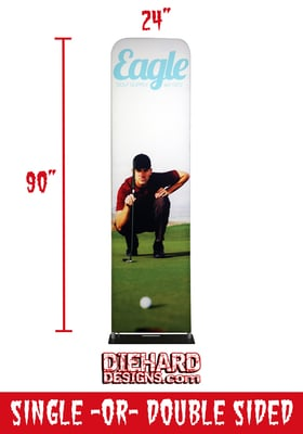 "Custom Full Color 24"" x 90"" Mono Stand + FREE GROUND SHIPPING!*"