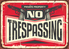 "PRIVATE PROPERTY - NO TRESPASSING - DUAL PISTOLS - 18""H x 24""W Yard Signs (10 PACK) w/ FREE GROUND SHIPPING!*"