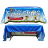 Custom Full Color Fabric Table Cover (3 Sided) + FREE GROUND SHIPPING!*