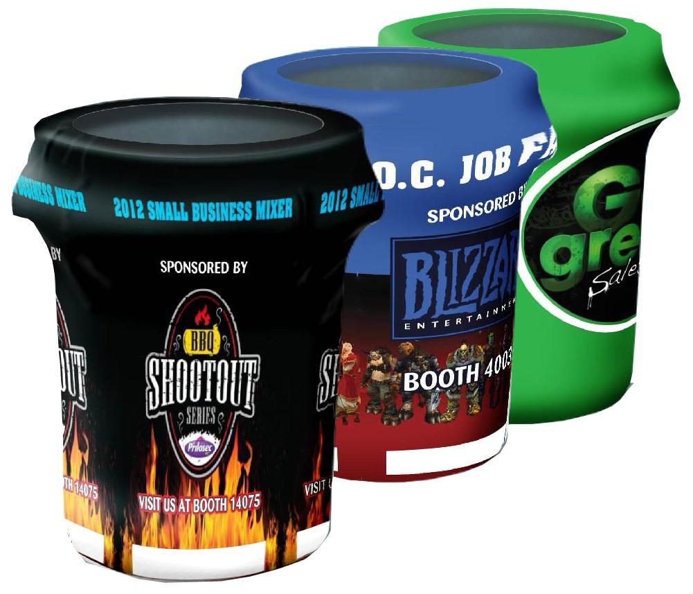 Custom Full Color Bin Cover 33 Gallon W Free Ground